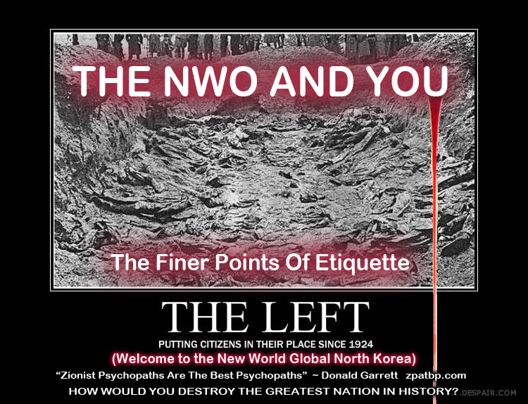 THE NWO AND YOU The Finer Points of Etiquette